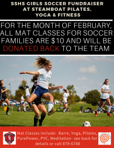 SSHS GIRLS SOCCER FUNDRAISER @ steamboat pilates yoga & fitness | Steamboat Springs | Colorado | United States