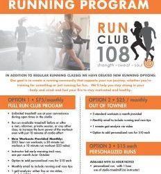 Run Club 108, our new Running Program!
