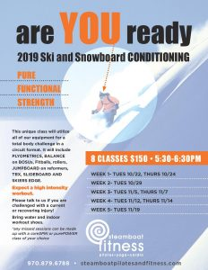 2019 Ski & Snowboard Conditioning Bootcamp! @ steamboat pilates yoga & fitness | Steamboat Springs | Colorado | United States